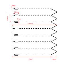 Thermotransfer steeketiketten 1,7 x 11,5 cm. van PE plastic op rol.