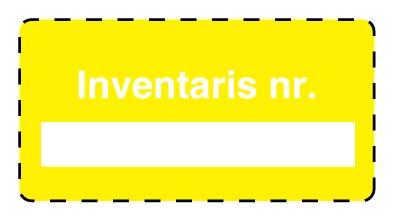 Inventarisetiketten bedrukt in zwart met uw eigen tekst, logo en/of streepjescode