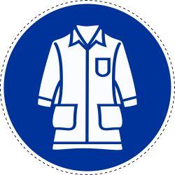 Draag labcoat-pictogram