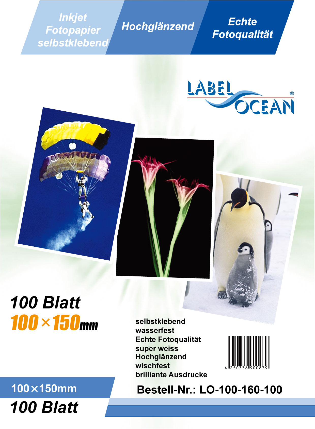 A100(100x150mm), 125g/m² (incl. Dragermateriaal)