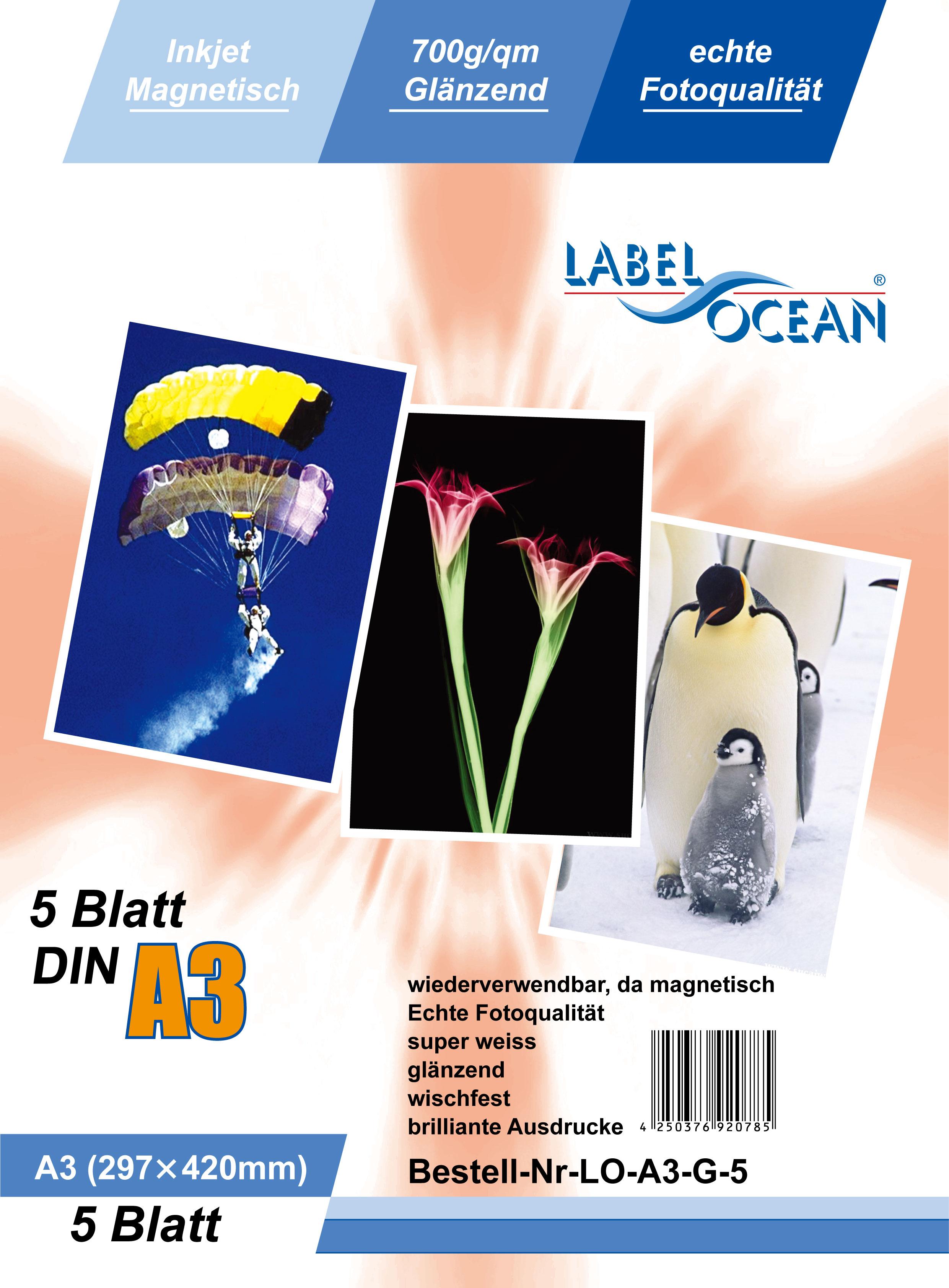 Origineel Premium magnetisch papier van LabelOcean® -LO-A3-G-5