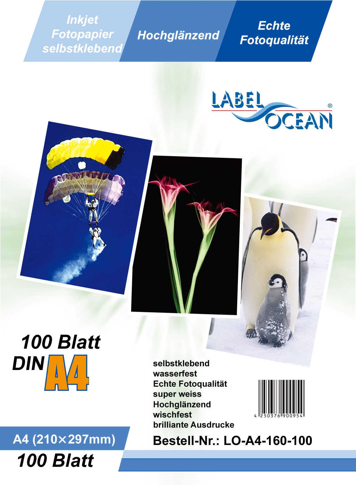 A4 (297x210mm), 125g/m² (incl. Dragermateriaal)
