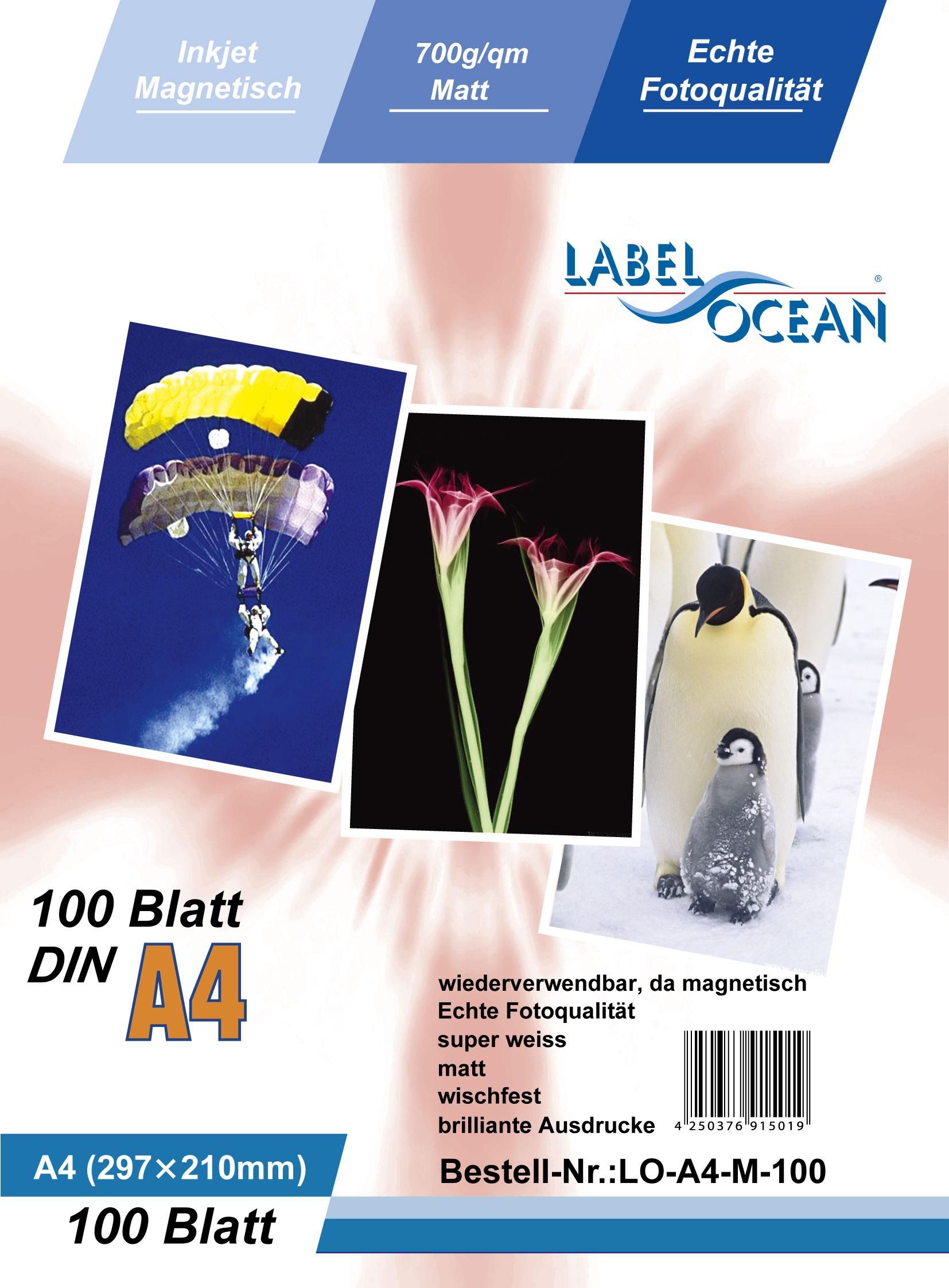 Origineel Premium magnetisch papier van LabelOcean® -LO-A4-M-100