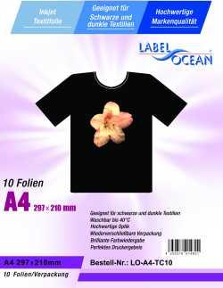 Strijkfolie van LabelOcean ® voor donker en zwart textiel