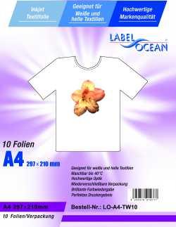 Strijkfolie van LabelOcean ® voor licht textiel
