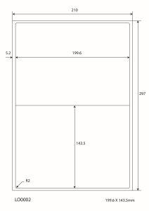 A4 Stickervellen  - 199.6x143.5mm