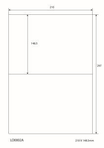 Witte A4 stickervellen – 210x148,5 mm