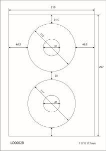 A4 Stickervellen  - 117x117mm