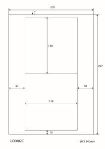 A4 Stickervellen - 130x140mm