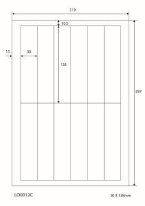 Adresetiketten-Barcode - 30x138mm