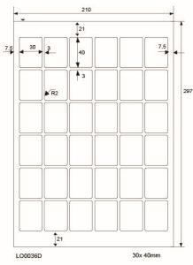Adresetiketten-Barcode - 30x40mm