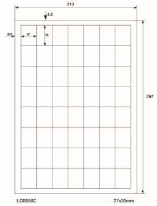 Adresetiketten-Barcode - 27x35mm