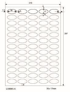 Adresetiketten-Barcode - 35x17mm