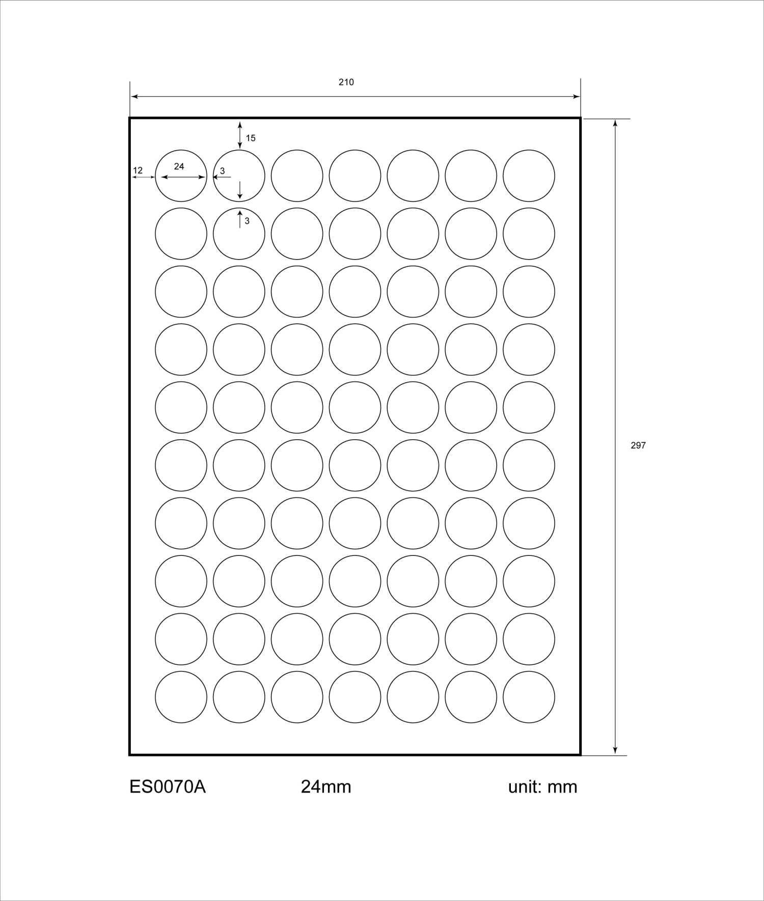 Adresetiketten-Barcode - 24mmØ