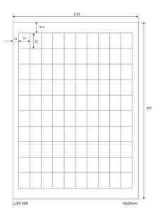 Adresetiketten-Barcode - 19x26mm