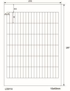 Adresetiketten-Barcode - 10x40mm