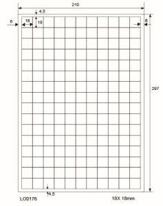 Adresetiketten-Barcode - 18x18mm