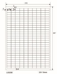 Adresetiketten-Barcode - 20x10mm