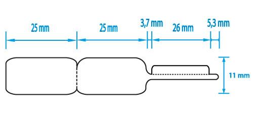 Juwelieretiketten / ringetiketten van papier op rol voor de sieradenindustrie.