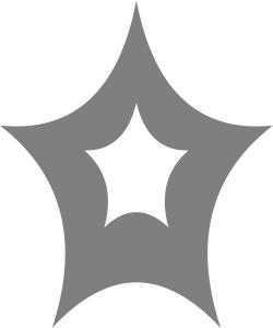 Sterren van glanzende zilverfolie in verschillende afmetingen.